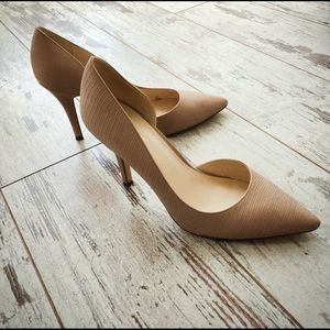 Nine West Nude D'Orsay Heels man made leather